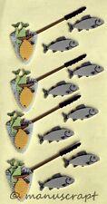 Artoz Artwork 3D-Sticker, Fischfang, Angeln