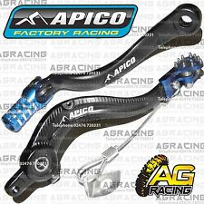 Apico Black Blue Rear Brake & Gear Pedal Lever For Husaberg FE 450 2009 MotoX