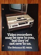Sony SL-8600 TV Console Triniton Ad Advertisement Betamax Recording System 1978