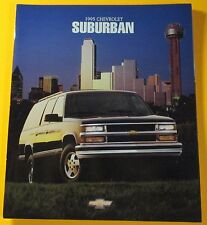 1995 CHEVROLET SUBURBAN SALES SHOWROOM BROCHURE..20-PAGES
