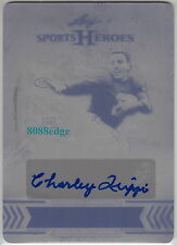 2013 SPORTS HEROES PRINT PLATE AUTO:CHARLEY TRIPPI #1/1 OF ONE AUTOGRAPH CHICAGO