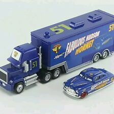Pixar 2 Cars No.51 Mack Truck & Fabulous Hudson Hornet Metal Toy Car