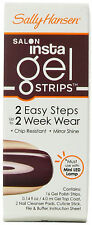 Sally Hansen INSTA GEL Strips, 16-Strips - Chip Resistant #190 - PLUMS THE WORD