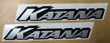 KATANA SUZUKI DECALS STICKERS EMBLEM 600 750 1000 1100 TANK BIKE MOTORCYCLE 741