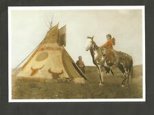 CARTE POSTALE INDIEN AMERIQUE TIPI TEPEE SQUAW INDIENNE ASSINIBOIN
