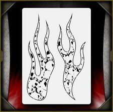 Skull Flames Hell Fire 2 Airbrush Stencil Template Airsick