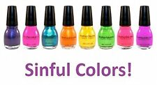 LOT OF 10 Sinful Colors Nail Enamel Polish All Different Colors & Great Variety