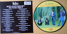 "THE BEATLES BALLAD OF JOHN AND YOKO 20TH ANNIVERSARY 7"" Vinyl Picture Pic Disc"