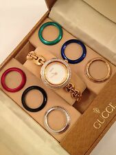 Authentic GUCCI  11/12.2 Interchangeable Bezels Bangle Women's Watch, Mint!!!!!