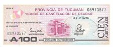 Argentina 100 Australes  30.11.1991   Series G  Uncirculated Banknote , G6