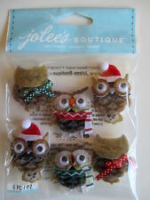 Jolee's Boutique 3D stickers - Pinecone Owl Repeats - Christmas  woodland animal