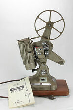 Keystone Regal K109 8mm Movie Projector with Case, Cord & Take Up Reel,  Works