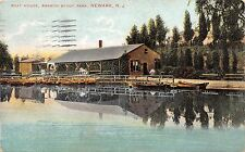 NEWARK NEW JERSEY BOAT HOUSE AT BRANCH BROOK PARK POSTCARD c1910