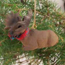 MOOSE Bull with Scarf Tiny One Miniature Christmas ORNAMENT