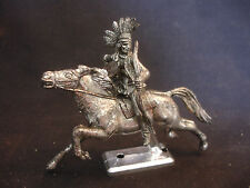 Old Vtg Antique Finished Indian Riding Horse Toy Figure Hong Kong