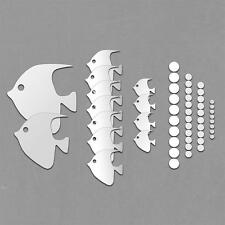 New DIY Home Decoration Mirror Wall Stickers Lovely Fish Modern Room Decal Art