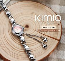 Famous Brand KIMIO Luxury Watch Women Small Quartz-watch Heart Love Band Fashion