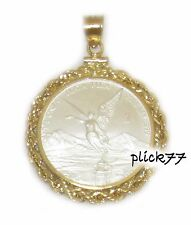1/4 oz Silver Libertad 1/20th 14k Gold Filled Rope Coin Pendant1996-Current