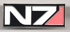 "Mass Effect 3 Game N7 Tactical Ops Logo 2"" Wide Cloisonne Pin-FREE S&H (MEPI-N7)"