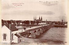 C422 Photographie vintage original Pont de l'Allier à Moulins 1898