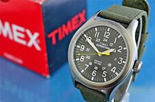NIB TIMEX MILITARY STYLE 24 HOUR 40MM INDIGLO WATCH, CANVAS STRAP
