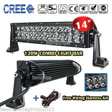 4D 14inch Cree 120W LED Light Bar F / S Combo Fog Lamp 4X4 Car Boat Vs 12inch 17