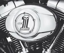 Harley # 1 Skull Chrome Air Cleaner Cover FLHX Street Glide Road King XL