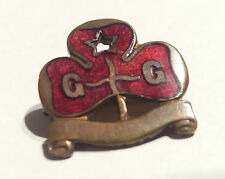 VINTAGE Girl Guides badge in Brass with Red Enamel by J. A WYLIE & CO Reg.671782
