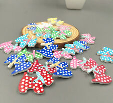 20 pcs Wooden buttons Sewing Dog animal Scrapbooking Embellishments Crafts 28mm