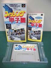SNES -- FISHING KOSHIEN Koushien -- Box. Can be data save! Japan game.