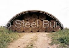 DuroSPAN Steel 40x32x18 Metal Arch Quonset Farm Building Kits Open Ends DiRECT