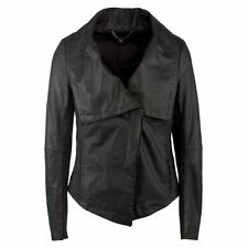 Muubaa Riviera Oversized Collar Leather Jacket in  UK10 / US6 / EU38 RRP £349.00