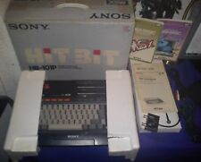 SONY MSX HIT BIT 101P COMPUTER ONLY TEST LIKE NEW MANUALS BASIC ALL COMPONETS