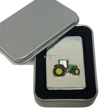 John Deere Green Tractor Lighter Gift Boxed Enamel Emblem NO FUEL INC Smoking