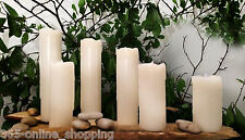 6 x Ivory Drip Effect LED Flameless Wax Mood Candles Home Garden Christmas Light