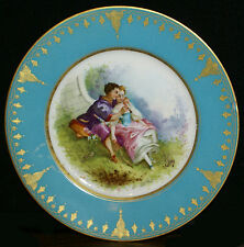 Sevres Style Courting Couple Hand Painted French Porcelain Signed Plate * Lot 3