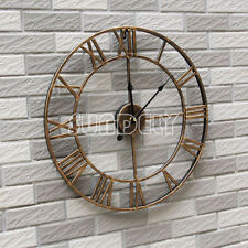 Large Golden Roman Numeral Wall Clock for Home / Garden / Outdoor (47cm) new