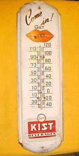 VINTAGE KIST BEVERAGES SODA ADVERTISING THERMOMETER 1940'S