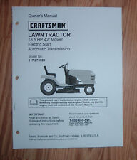 CRAFTSMAN 917.275820 LAWN TRACTOR OWNERS MANUAL WITH ILLUSTRATED PARTS LIST