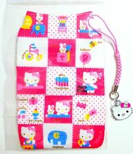 Hello Kitty mobile phone Sock/Pouch or MP3 or small camera + phone Charm Pendant