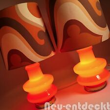 Space Age Pop art Steh Tisch Lampe Lampen Panton 70er retro vintage orange 1624