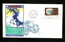Postal History Canada Scott #481 Overseas Mailer FDC Hydrological Water 1968 ON