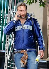 Suicide Squad Captain Boomerang Jai Courtney Blue Varsity Satin Jacket