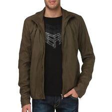 Diesel Black Gold lukylu marrón cuero chaqueta Talla L 100% Auténtico