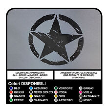 2 ADESIVI cm 25 STELLA Jeep WRANGLER WILLYS RENEGADE stickers decals
