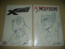 Alvin Lee Original Art Wolverine 300 Uncanny X-Force 1 variant Deadpool NM