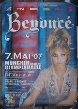 BEYONCE KNOWLES Poster Plakat Concert Tour 2007 München rare rar sexy Bday Tour