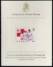 Tuvalu (1586) - 1988 RED CROSS 60c  imperf on Format International PROOF  CARD
