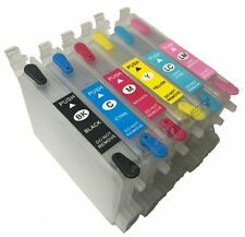 6 FULL Refillable Ink Cartridge Set for Epson Stylus Photo R200 R220 R300 R300M