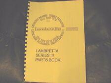 LAMBRETTA series 3 Parti Manuale 125-200cc Li, SX, speciali, TV. lam06